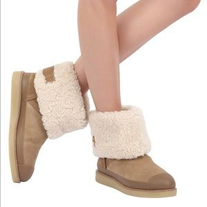 Tory Burch Margaret shearling ankle boots